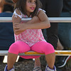 Eric Bonzar—The Morning Journal<br /> Eva Marie Havens enjoys the festivities during Cedar Point's Frontier Town Hootenanny! event, Aug. 16, 2017. It was the Hemlock, Mich.,  7-year-old's first time to the amusement park, and she was looking forward to riding all the rides now that she is tall enough to do so, she said.