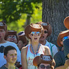 """Eric Bonzar—The Morning Journal<br /> The crowd reacts to the announcement of Cedar Point's new hyper-hybrid coaster """"Steel Vengeance,"""" during the amusement park's Frontier Town Hootenanny! event, Aug. 16, 2017."""