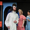 Eric Bonzar—The Morning Journal<br /> Brett Heidinger, 24, of North Olmsted plays the part of Snoopy during a Workshop Players Theater rehearsal of  You're a Good Man, Charlie Brown, Sept. 12, 2017.