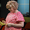 Eric Bonzar—The Morning Journal<br /> Shelbey Linder, 25, of Lorain plays the part of Sally during a Workshop Players Theater rehearsal of  You're a Good Man, Charlie Brown, Sept. 12, 2017.