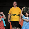 Eric Bonzar—The Morning Journal<br /> Performers for Amherst's Workshop Players Theater rehearse a scene from You're a Good Man, Charlie Brown, Sept. 12, 2017. Pictured, from left, are: Matt Cuffari, 31, of Lorain as Linus; Kevin Cline, 43, of North Ridgeville as Charlie Brown and Alicia Fogal, 45, of Rocky River as Lucy.