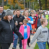 Eric Bonzar—The Morning Journal<br /> Parents, students and healthcare employees from Cleveland Clinic's Avon Hospital participated in Eastview Elementary School's Walk on Wednesdays (WOW) initiative, Oct. 26, 2016. Wednesday marked the final WOW of 2016, where students were encouraged to bring a friend to walk with and a pair of old shoes to donate to the nonprofit organization Planet Aid.