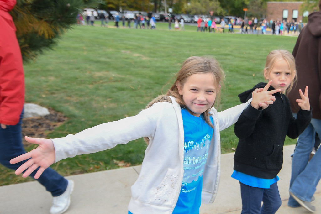 . Eric Bonzar�The Morning Journal Eastview Elementary School students participate in the  Walk on Wednesdays (WOW) initiative, Oct. 26, 2016.