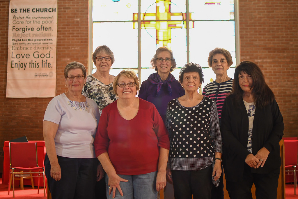 . Eric Bonzar�The Morning Journal Members of United Church of Christ have been instrumental in creating projects and events to celebrate the Vermilion church\'s 200th anniversary. Pictured are: (back row, from left) Faye Stahl, Diane Langham and Judy Klucas. (front row, from left)Jane Dean, Kim Ickes, Ellen Johnson and Nancy Hamilton.