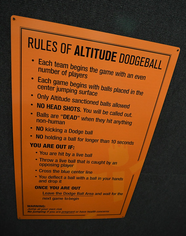 . Eric Bonzar�The Morning Journal Rules are posted for various activities at Altitude Trampoline Park to keep customers safe and ensure an enjoyable experience.