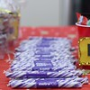 Eric Bonzar—The Morning Journal<br> Branded candy sticks and other treats were available to families attending the 225 E. 42nd St. Metro PCS location's customer appreciation holiday party, Dec. 15, 2017.