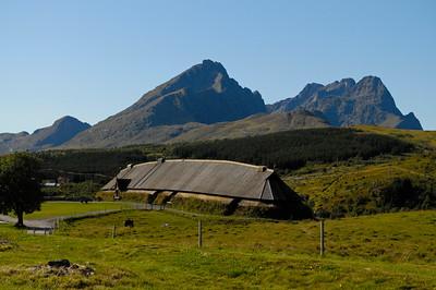 Viking longhouse on Lofoten