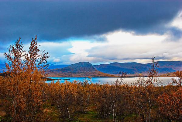 Dark clouds over lake Torneträsk