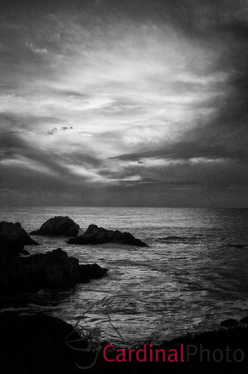 Sunset over the Pacific Ocean from Point Lobos, Monterey, California