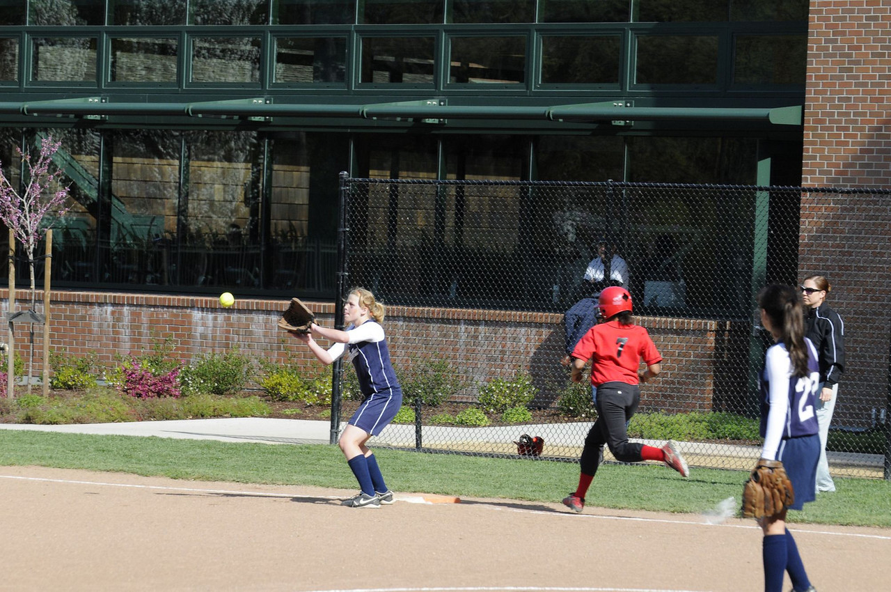 Castilleja Softball 1/ 1000s, at f/8    E.Comp:0    125mm    WB: AUTO 0.    ISO: 560    Tone:     Sharp:     Camera: NIKON D300on: 2009:03:20 15:53:26