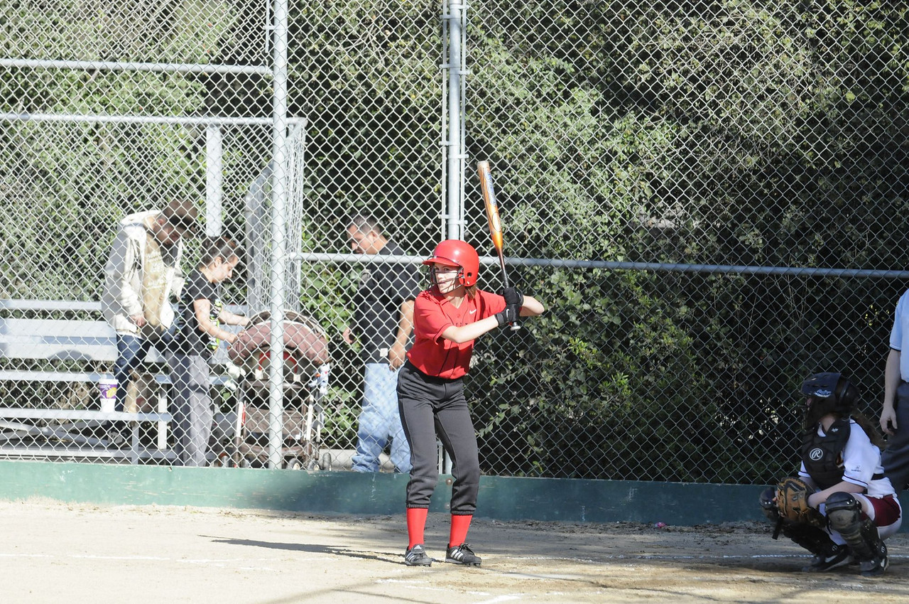 Castilleja Softball 1/ 750s, at f/8 || E.Comp:0 || 155mm || WB: AUTO 0. || ISO: 800 || Tone:  || Sharp:  || Camera: NIKON D300on: 2009:03:19 16:36:57