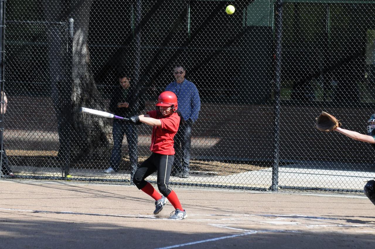 Castilleja Softball 1/ 1000s, at f/4.8    E.Comp:0    135mm    WB: AUTO 0.    ISO: 400    Tone:     Sharp:     Camera: NIKON D300on: 2009:03:24 15:55:37