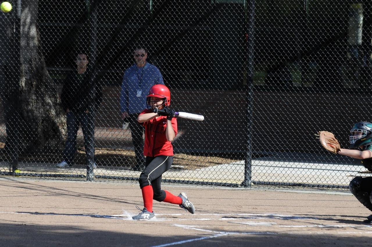 Castilleja Softball 1/ 1500s, at f/4.8    E.Comp:0    155mm    WB: AUTO 0.    ISO: 400    Tone:     Sharp:     Camera: NIKON D300on: 2009:03:24 15:54:35