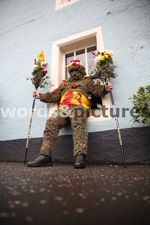 The Burryman's annual tour of South Queensferry