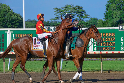 Just before the start of the 2011 Haskell at Monmouth Park
