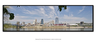Cincinnati - World Choir Games venues - inside of card - panorama of Cincinnati skyline