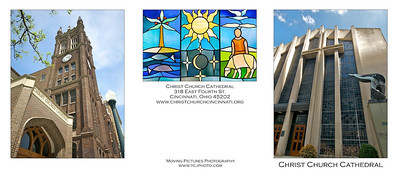 Christ Church Cathedral - outside 3 panels of card