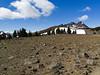 View over volcanic plain toward Broken Top