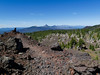 PCT crests lava fields north of the Three Sisters--looking north along the Cascades