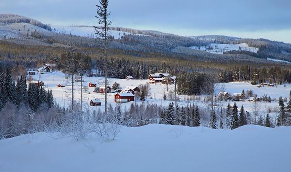 Swedish village in winter - Risbäck på vintern