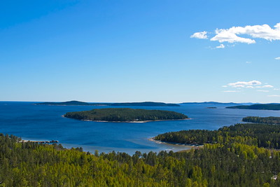 View from mountain Ögeltjärnsberget over the Baltic Sea