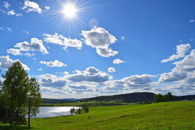 Idyllic summer landscape in Sweden