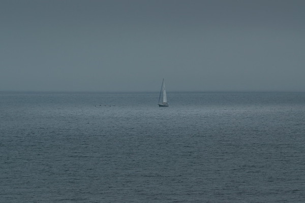 A sailboat is cruising on the Baltic Sea