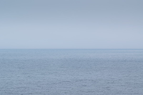 Baltic Sea on a calm and overcast summer day