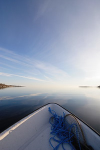 Boating on a fjord in summer - Gaviksfjärden