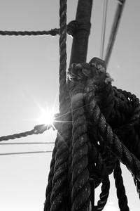 Skepp Göteborg i Örnsköldsvik -  Knots and ropes on a tall ship
