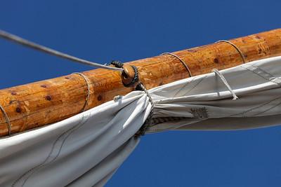 Skepp Göteborg i Örnsköldsvik -  Reefed sails on a tall ship
