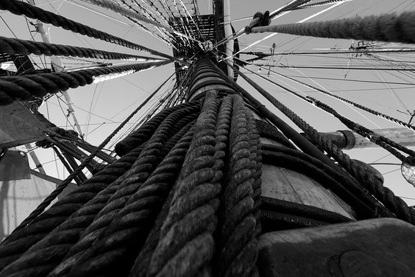 Skepp Göteborg i Örnsköldsvik -  Rigging on a tall ship