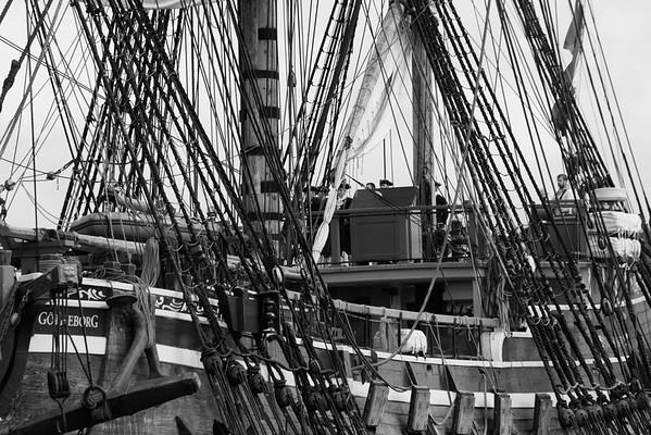 Skepp Göteborg i Örnsköldsvik -  The tall ship Goetheborg approaching harbor