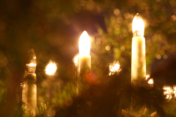 Julpynt -  Candles and Christmas tree
