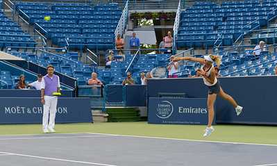 Sharapova under the watchful eye of coach Jimmy Connors