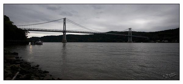 Mid-Hudson Bridge in Poughkeepsie, NY from Waryus Park.