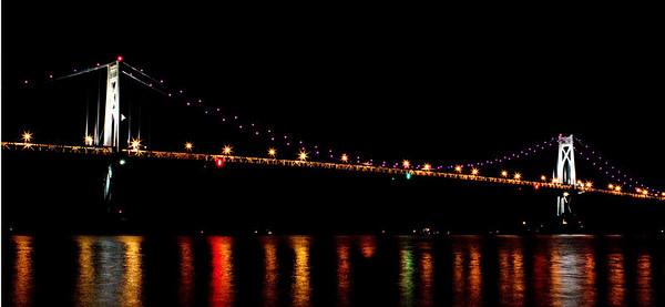 Mid Hudson Bridge from Waryas Park during the opening ceremonies of the Walkway Bridge in Poughkeepsie