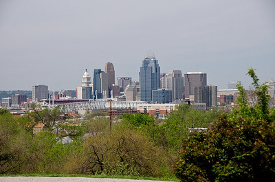 Wiedemann Hill Mansion - view of Cincinnati from front porch