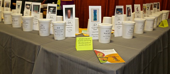 Lots of wonderful raffle prizes all weekend.