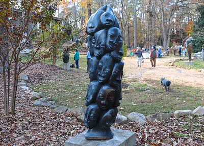 """Amazing stone sculptures everywhere. As my stone mason friend Bob Simchock  said """"You have no idea how hard it is to create these carvings out of one piece of stone using very basic hand tools!'"""