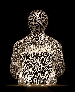 """""""Alphabet Man"""" - Des Moines Pappajohn Sculpture Park"""