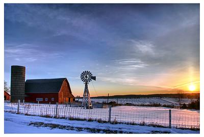 01, DE200, CP, January Morning on the Farm