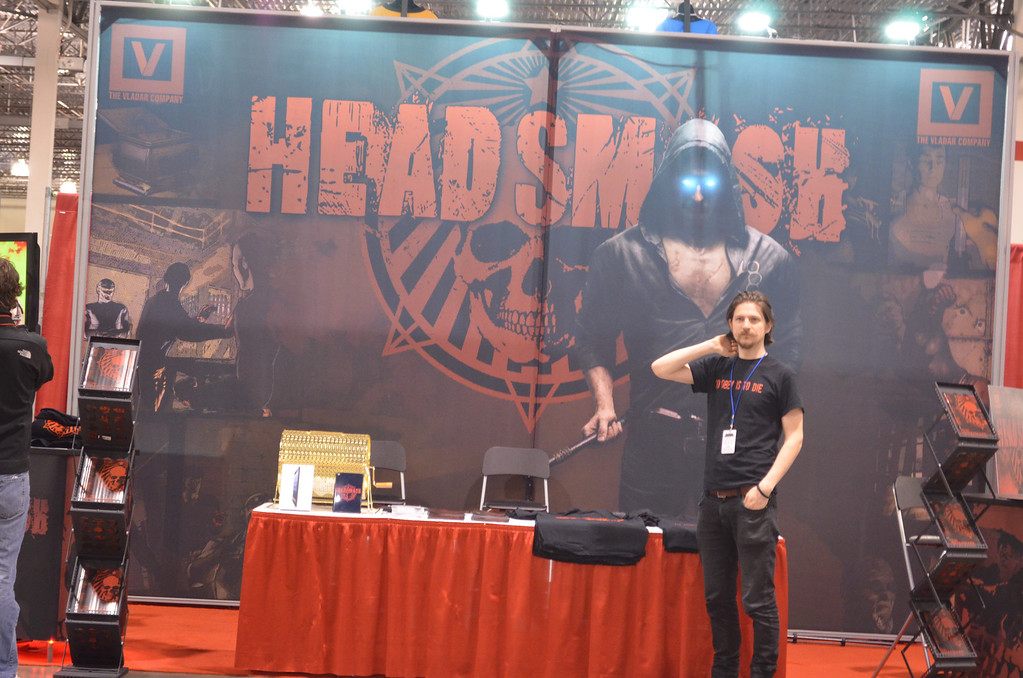. Debuting in July will be the full length graphic novel for �Headsmash.� A special preview comic of the first chapter of the graphic novel is available all weekend at the Motor City Comic Con in Novi. (Photo by Dave Herndon)