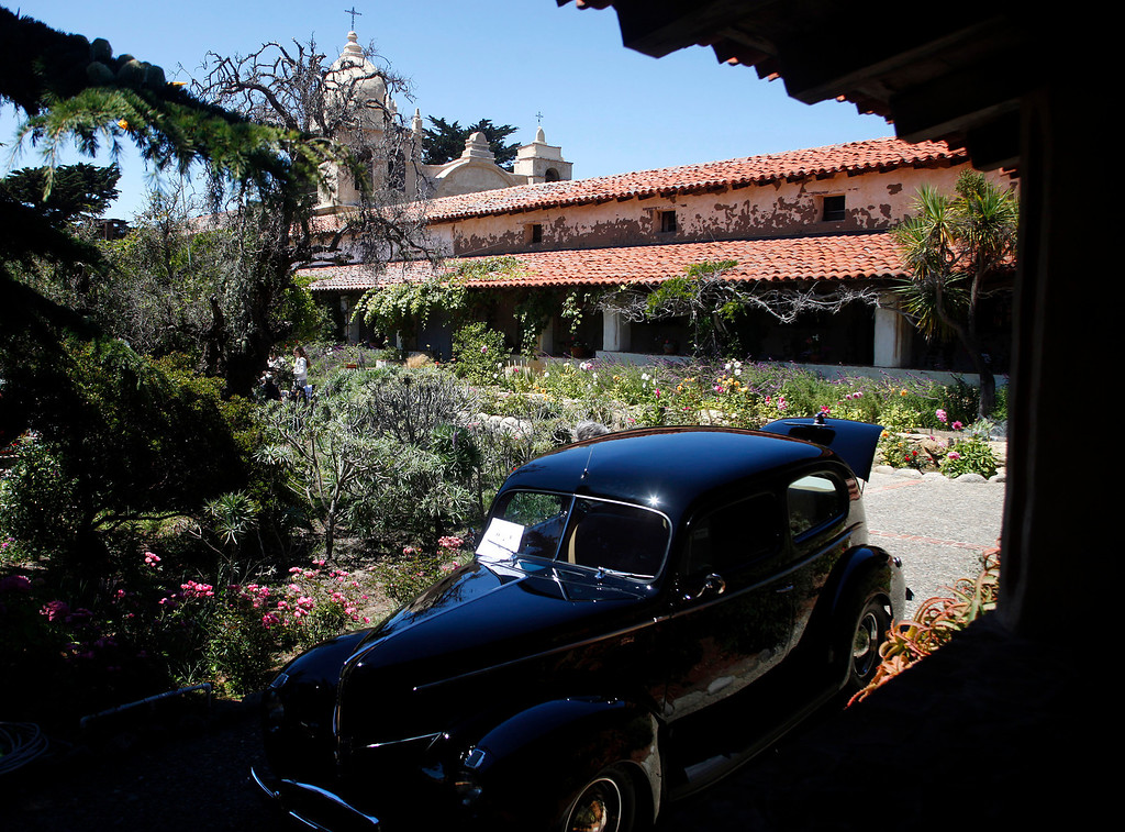 . A 1940 Ford Standard Two Door Sedan owned by Joe Parra is on display during the Blessing of the Cars at Carmel Mission in Carmel, Calif. on Wednesday August 14, 2013.   (Photo David Royal/ Monterey County Herald)