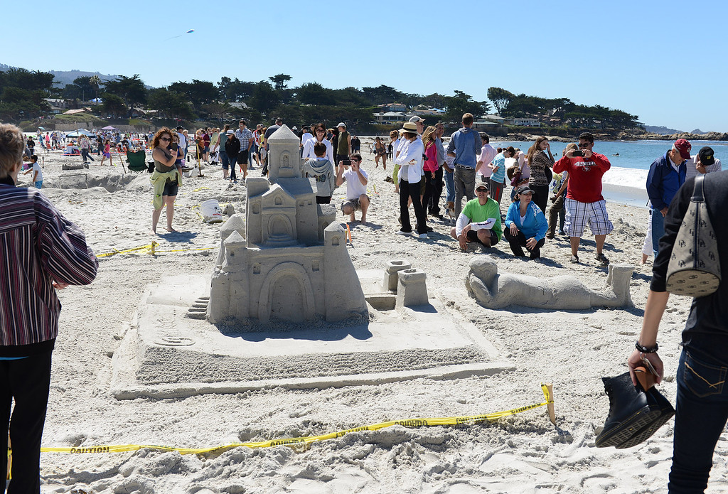 . The Storybook Dreams entry had a castle rising out of a book that a child was reading at Carmel Beach in Carmel, Calif. on Sunday September 15, 2013. The castle, built by the Mehringer Family of Monterey, won the Golden Shovel Award. (Photo David Royal/ Monterey County Herald)