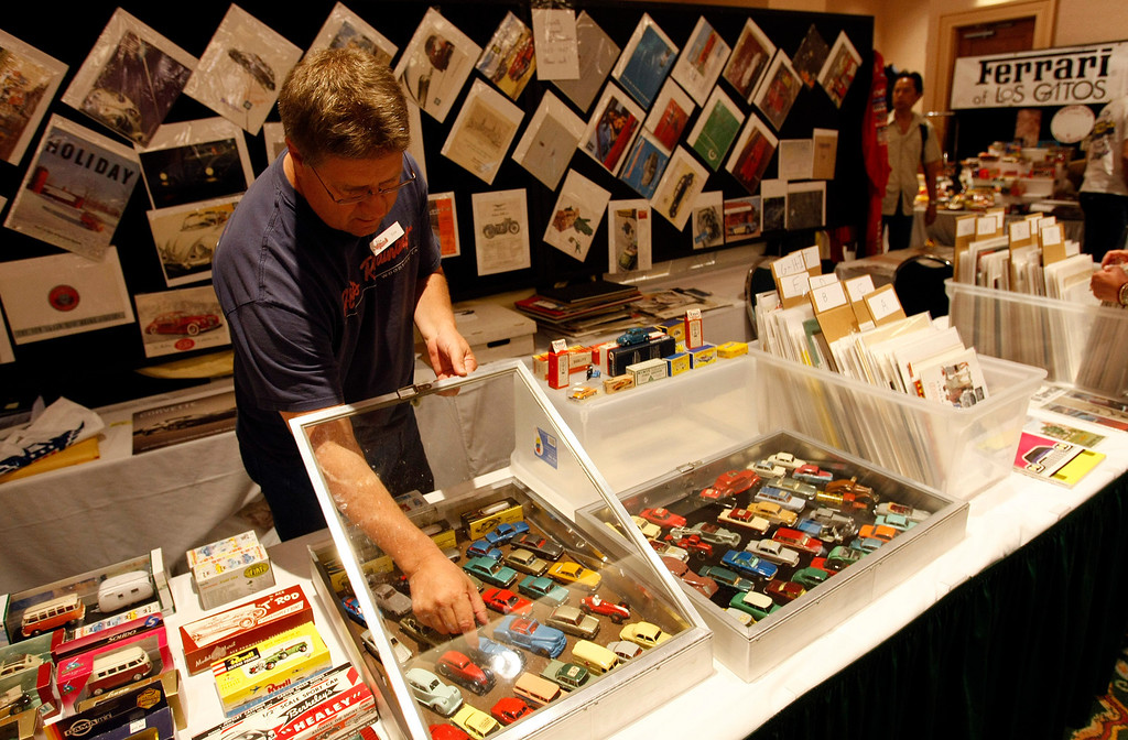 . Sam Halsted at the Automobilia Monterey International Expo at the Embassy Suites in Seaside on August 13, 2013. (Vern Fisher/Monterey County Herald)