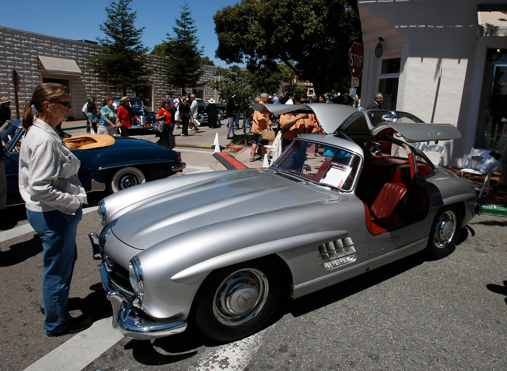 . A 1955 Mercedes gullwing at the Concours on the Avenue in Carmel on Agust 13, 2013.  (Vern Fisher/Monterey County Herald)