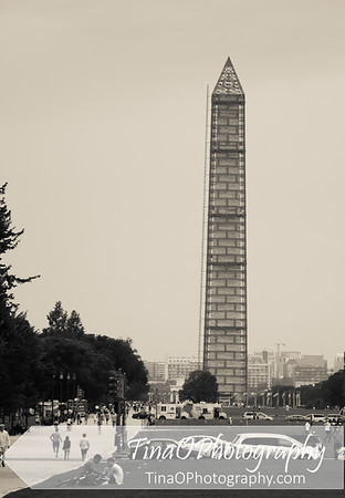 Washington Monument with Scaffold