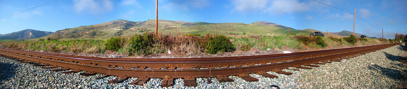 Southern Pacific Tracks near Gaviota, California