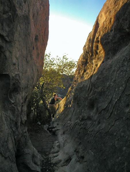 Hiking near Lizard's Mouth.